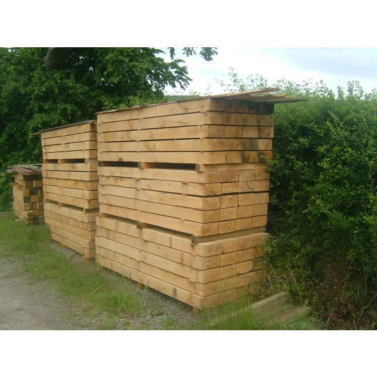 New Oak Sleepers for Landscaping
